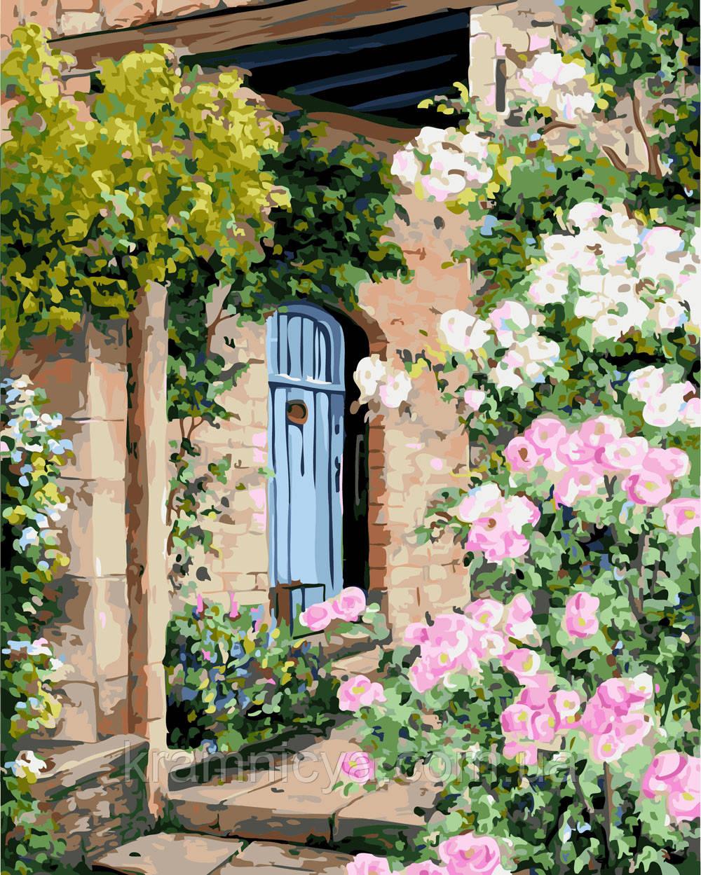 Картина по номерам 40х50 Дом в цветах (GX4650)