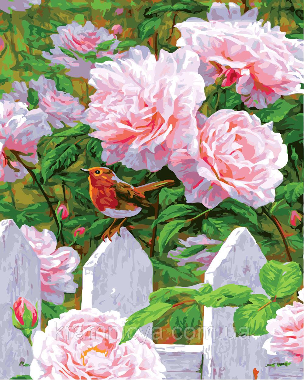Картина за номерами 40х50 Троянди в саду (GX23190)