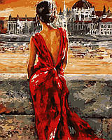 Картина по номерам 40х50 Итальянка в красном (GX8946), фото 1