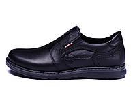 Черные мужские кожаные туфли Kristan black old school