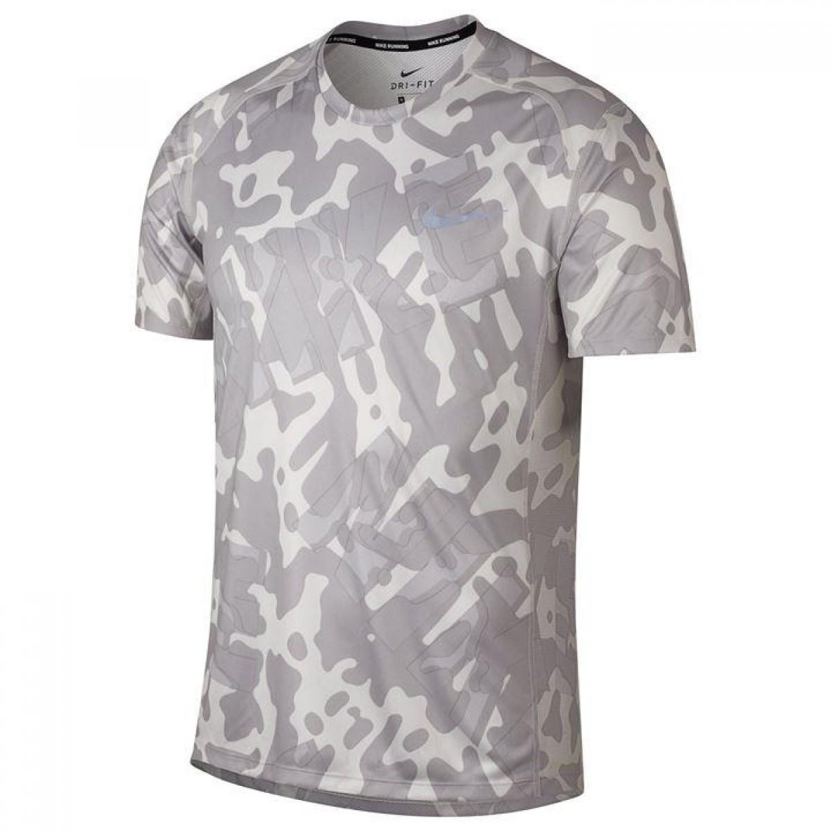 6ee5fb2b Футболка Nike Miler Short Sleeve Running Grey - Оригинал — в ...