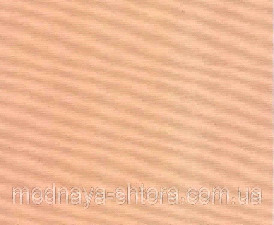 """Тканевые рулонные шторы """"Oasis"""" сатин (персик), РАЗМЕР 62,5х170 см"""