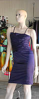 Платье из атласа на бретелях