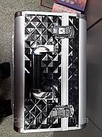 Чемодан мастера металлический раздвижной (черный ромб )