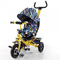 """Велосипед трехколесный TILLY Trike """"Ракеты"""" T-351-10 Yellow (надувные колеса)"""