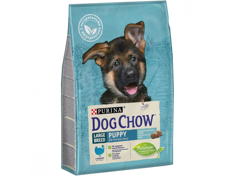 Сухой корм для щенков Purina Dog Chow Puppy Large Breed Turkey 14 кг