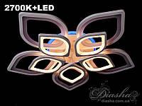 Потолочная LED-люстра с подсветкой 8073/5+5 LED dimmer-2.4G (серая,черная,коричневая), фото 1