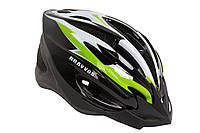 Шлем велосипедный HE 126 черно-бело-салатный (черно-бело-салатный)