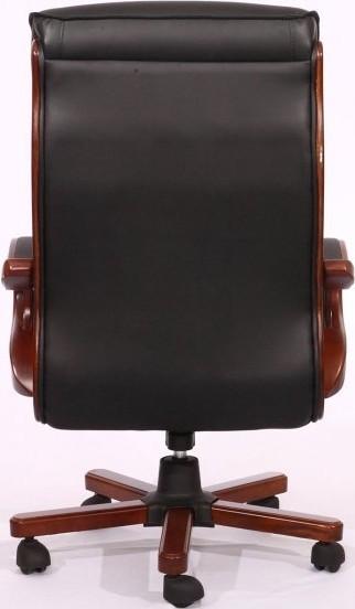 Кресло Президент 02 (6243 Black PU+PVC) чёрный. Вид сзади.
