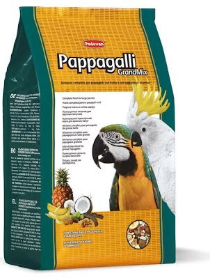 Корм для крупных попугаев (амазон, жако, какаду, ара) Padovan GrandMix Pappagalli 600 г
