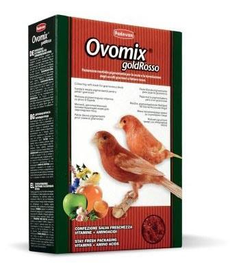 Корм для зерноядных птиц (канареек, волнистых попугаев, экзотических птиц) Padovan Ovomix GoldRosso 300 г