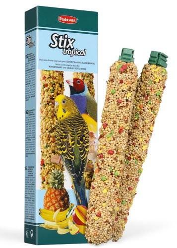 Корм для волнистых попугаев и маленьких экзотических птиц Padovan Stix Tropical 80 г