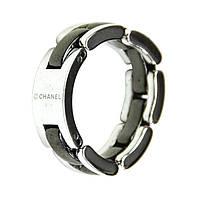 Кольцо мужское Chanel (керамика + сталь)