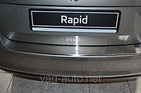 Накладка защитная на задний бампер Rapid с загибом