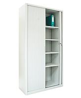 Канцелярский шкаф с роллетными дверьми ШКГ-10 р, шкаф металлический для документов