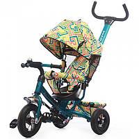 """Велосипед трехколесный TILLY Trike """"Лабиринт"""" T-351-3 Dark green, резиновые колеса"""