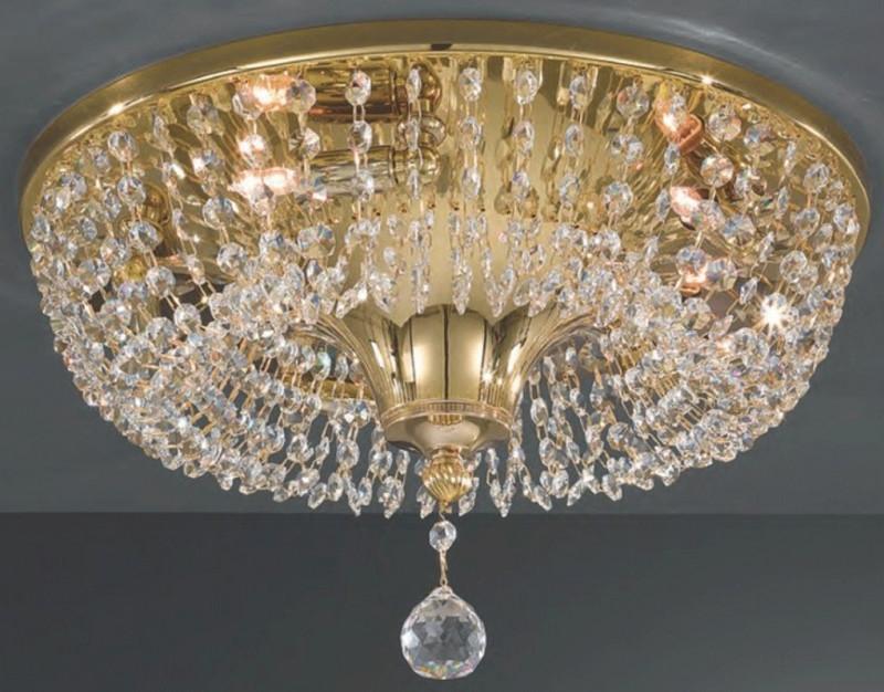 Светильник потолочный LA LAMPADA PL 2790/5.26 золото/хрусталь