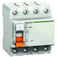 Дифференциальный выключатель УЗО ВД63 4П 25А 30 мА Schneider electric