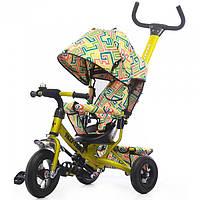 "Велосипед TILLY Trike ""Лабиринт""T-351-3 Yellow, резиновые колеса"