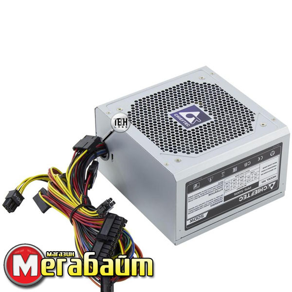 Блок Питания Chieftec PPS-500S, ATX 2.2, no PFC, 12cm fan, bulk