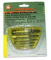 """Комплект экстракторов """"съемник шпилек"""" 1/8""""-3/4"""", 6 предметов AG010048 (Jonnesway, Тайвань), фото 1"""