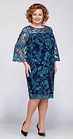 Платье La Kona-969/5 белорусский трикотаж, тёмная бирюза, 58