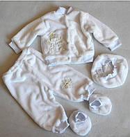 """Комплект для крещения """"Белый ангел"""" размер 62,68"""