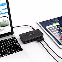 Зарядное устройство Orico Smart Desktop Charger 25W 5 USB-портами DCP-5U (Черное), фото 3