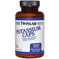 Калий (Potassium), Twinlab, 99 мг, 215 капсул