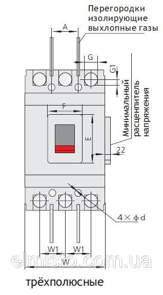 Автоматические выключатели NM1 125S/3300 200А