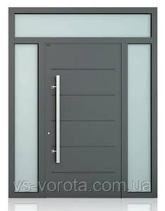 Двери алюминиевые входные WISNIOWSKI модель CREO 313 - размер 1200Х2300 мм