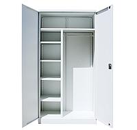 Шкаф гардеробный офисный ШКГ-10 ог (1970х1000х455 мм), металлический офисно-гардербный одежный шкаф