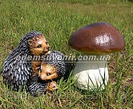 Садовая фигура Гриб польский и Семейка ежей, фото 2