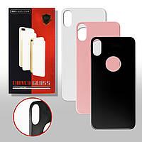Защитное стекло iPhone BACK (для задней панели) iPhone X black