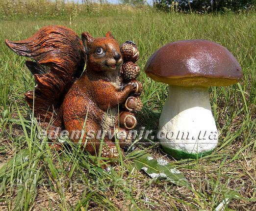 Садовая фигура Гриб польский и Белка Welcome, фото 2