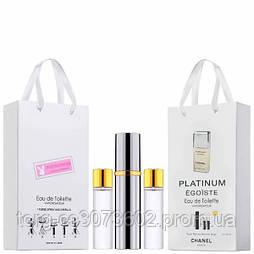 Мини-парфюм мужской Chanel Egoiste Platinum, 3х15 мл