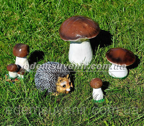 Садовая фигура Опята, Опенок, Грибочек белый, Боровик и Ежиха, фото 2