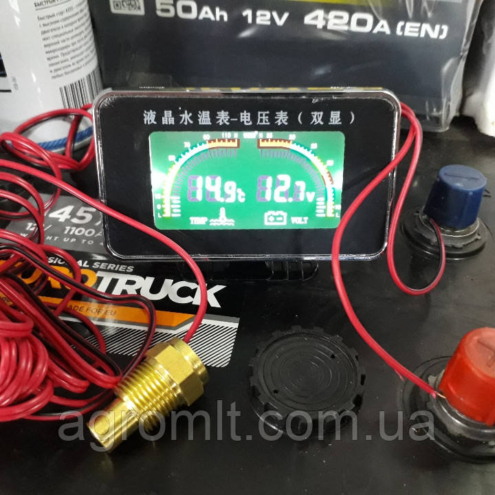 10mm 12V 24V Авто Цифровой Дисплей Вольтметр Датчик температуры воды со звуковой сигнализацией 1TopShop