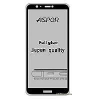 Защитное стекло 5D Full Glue для Huawei P Smart / Enjoy 7S Black (Screen Protector 0,3 мм)