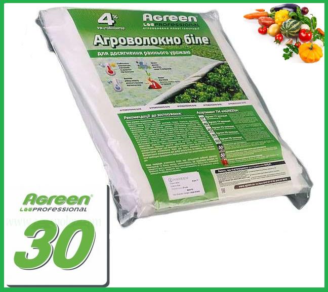 Агроволокно Agreen (белое) 30 г/м², 1,6х10 м. в пакетах