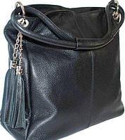 Итальянская кожаная женская сумка черная BD 0120