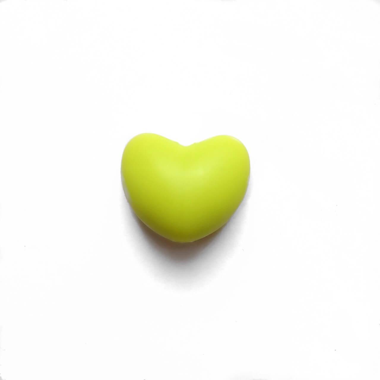 Сердце (салатовое)  силиконовая бусина