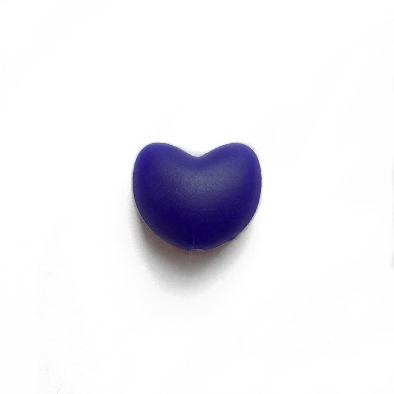 Сердце (темно синий)  силиконовая бусина