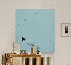 Римская штора Джуси Велюр бирюзовый, фото 3
