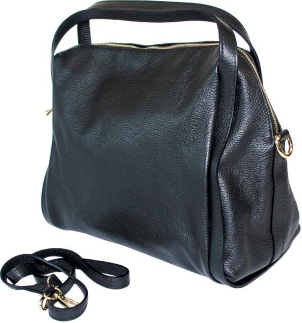 bd9081e04915 Итальянская кожаная женская сумка черная BD 0102 - Сумки Ремни Кошельки в  Днепре