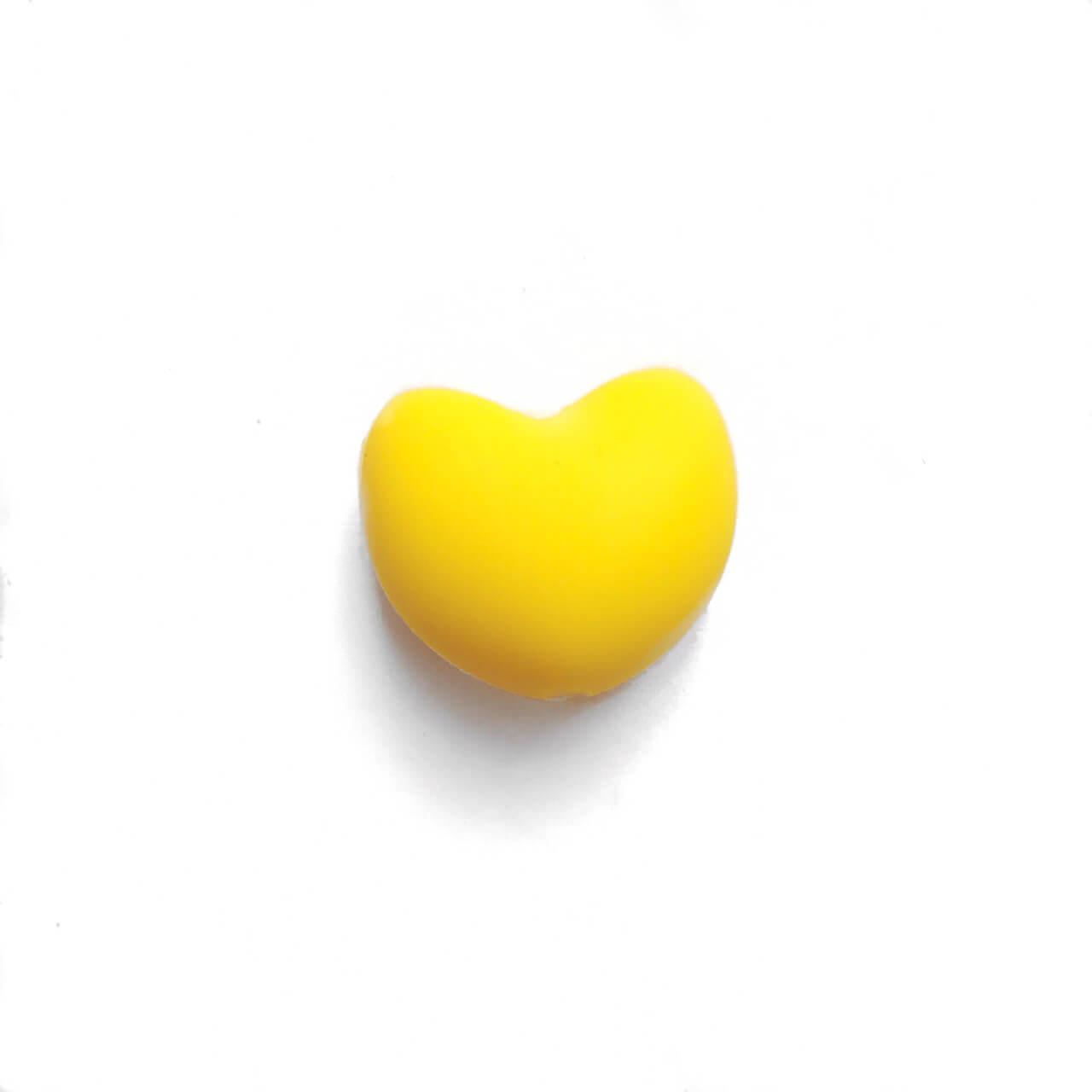 Сердце (желтый)  силиконовая бусина