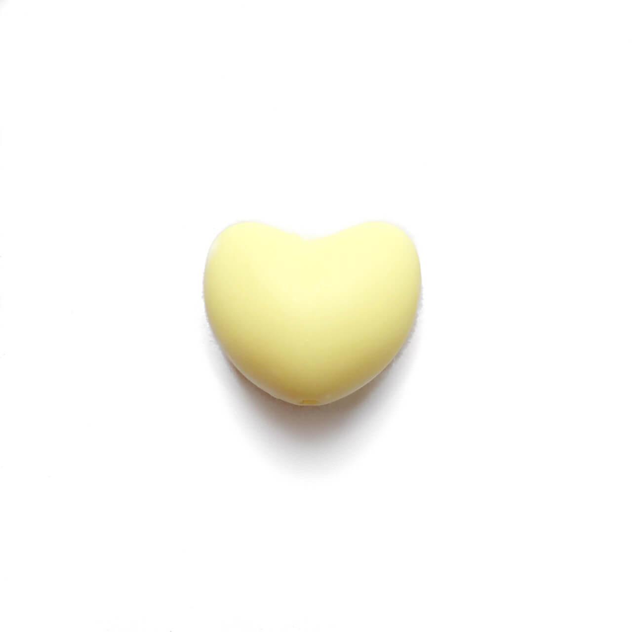 Сердце (кремовый)  силиконовая бусина
