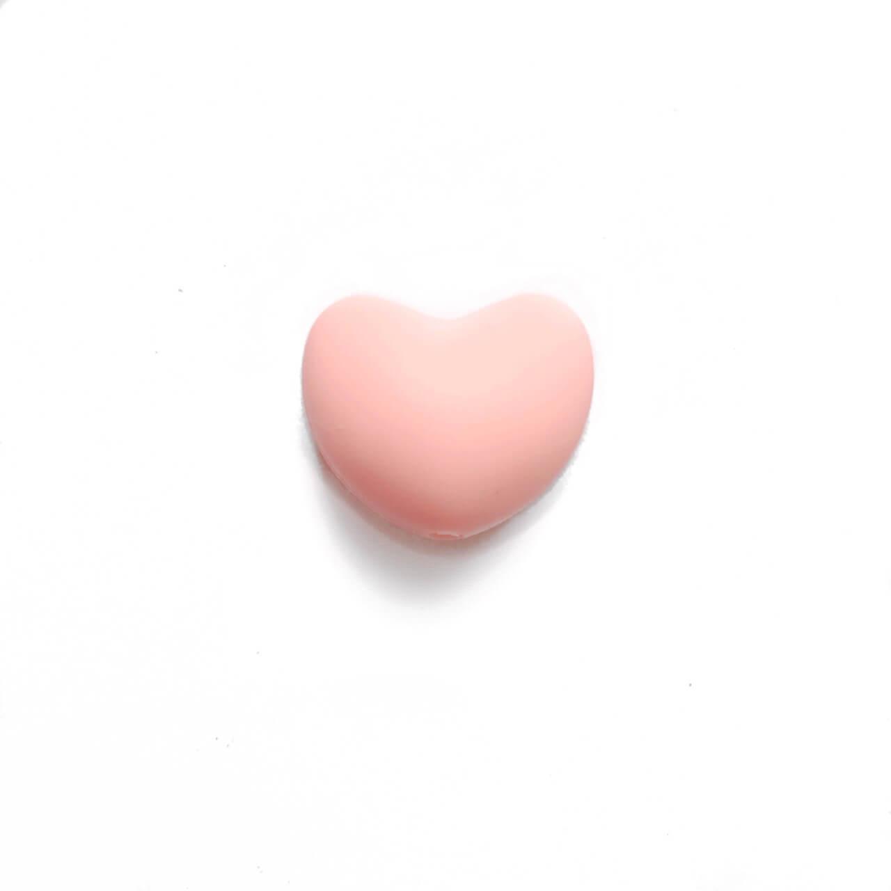 Сердце (кварц)  силиконовая бусина