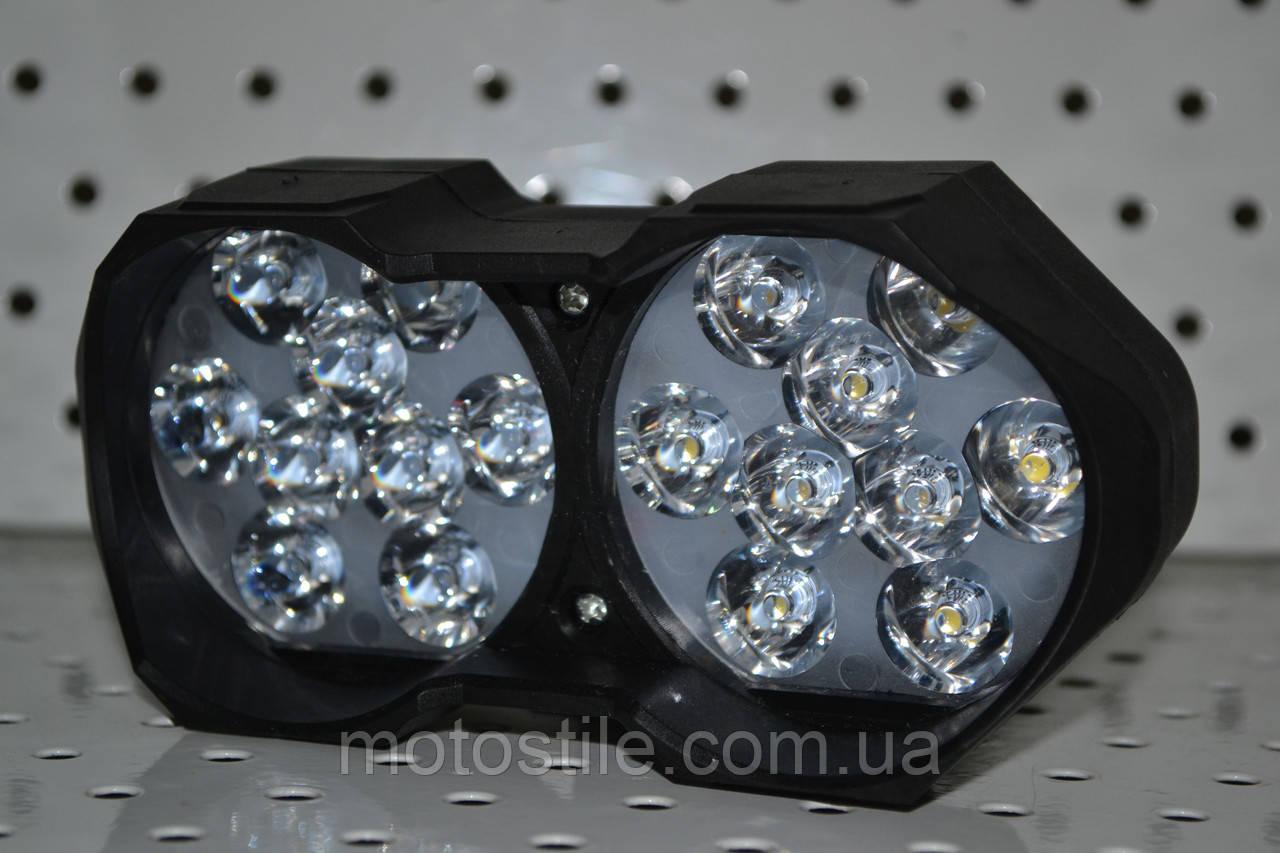 Дополнительная светодиодная фара 9-85V 30W 18 диодов, фото 1