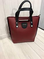 Сумка в стиле Zara красная с черным, фото 1